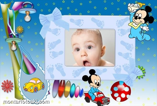 Moldura Mickey Baby Carrinhos