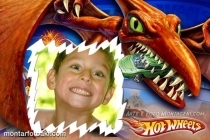 Moldura Hot Wheels Dinossauro