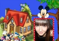Moldura Casa Turma do Mickey