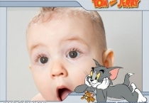 Moldura Tom e Jerry Te Olhando