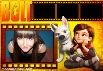 Moldura Do Filme Bolt e Amiga